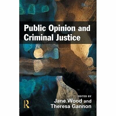 Public Opinion and Criminal Justice - Wood, Jane NEW Paperback 3 Dec 2008