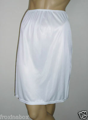 "White Half Slip Size 14 Cling Resist 23"" Inches Length Underskirt Microfibre New"