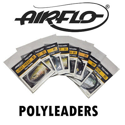 Airflo Fly Fishing Polyleaders 5ft 8ft 10ft Trout Salmon Poly Leaders Polyleader