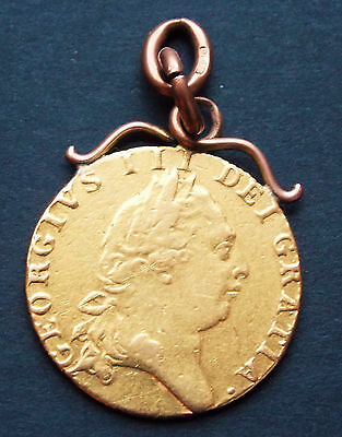 George Iii   1790 Full Guinea  With Rose Gold Mount  Fine Condition