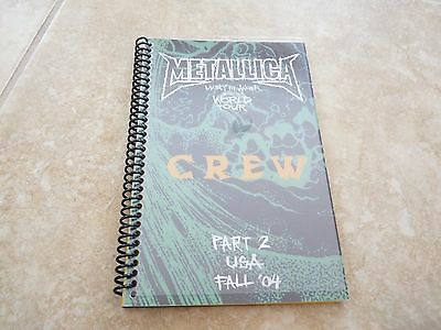 Metallica Madly In Anger USA Fall 2004 Part 2 Band Concert Tour Itinerary Book 2