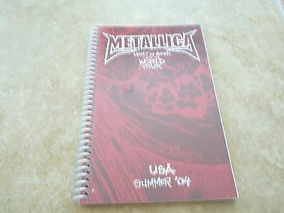 Metallica Madly In Anger USA Summer 2004 RARE Band Concert Tour Itinerary Book
