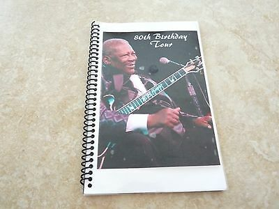 BB King 80th Birthday Tour 2005 RARE Band Concert Tour Itinerary Book