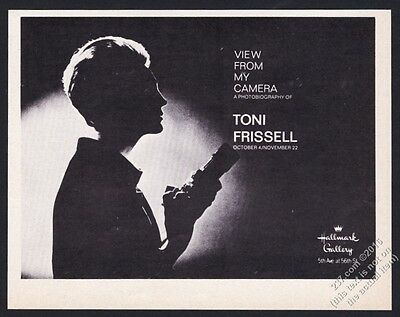 1967 Toni Frissell photo NYC gallery show vintage print ad