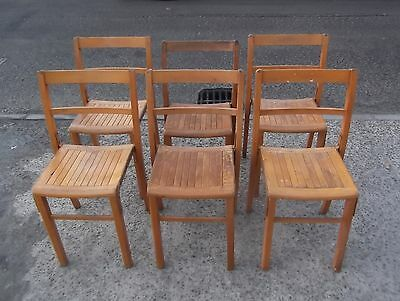 Set Of 6 Vintage  Kingfisher Stacking Chairs    Delivery Available
