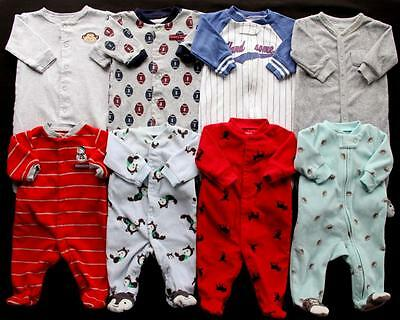 Baby Boy Newborn 0/3 Months Sleepers Pajamas Clothes Lot