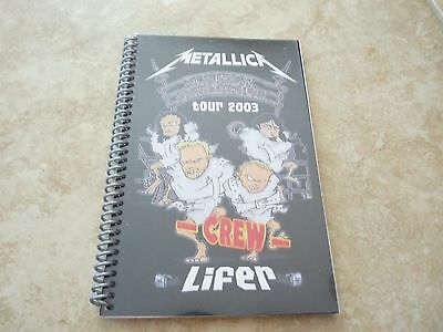 Metallica Summer Sanitarium Lifer 2003 Concert Band Tour Itinerary Book