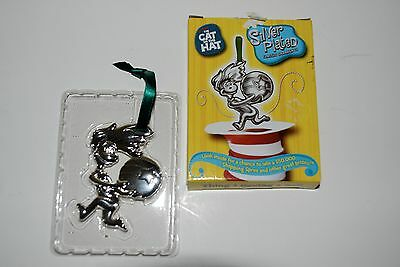 Dr. Seuss CAT IN THE HAT Silver Plated Classic Ornament Thing 1 Having A Ball
