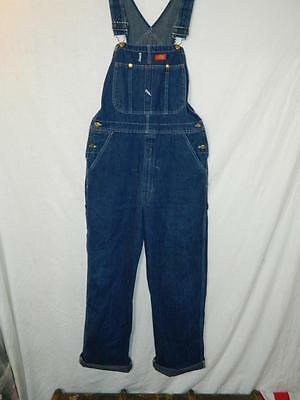"""DG038 vintage 1990's dungarees by Dickies, chore wear, rockabilly, retro - W34"""""""