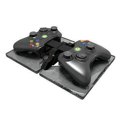 Xbox 360 Wireless Controller Charger Ammo Dock + Rechargeable Batteries EU Plug