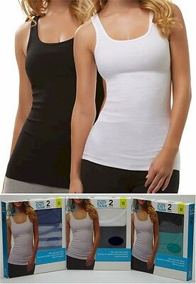 Women's Felina 2 Piece Fine Ribbed Tank Top Set Choose Size & Colors