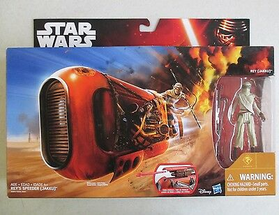 Mib 2015 Star Wars The Force Awakens Rey's Speeder With Rey Jakku Action Figure