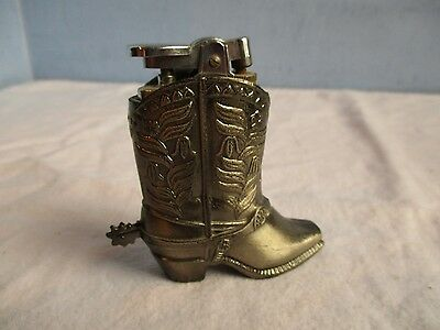 Vintage Smoke Stone Cowboy Boot Table Lighter - Japan