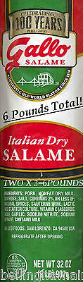 GALLO Salame, I NEED some SERIOUS Salame! 6 POUNDS SERIOUS!  Free FAST SHIPPING!