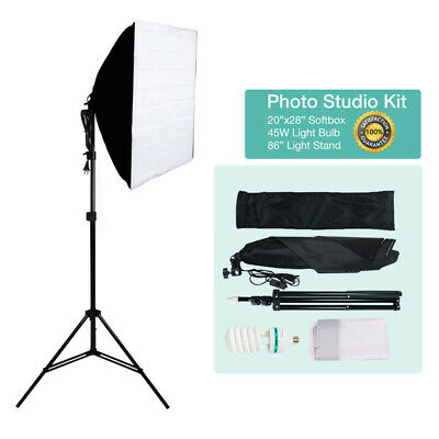 Photography Studio 400W Softbox Continuous Lighting Soft Box Light Stand Kit New
