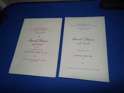 Middlesborough Co-Operative Society Annual Dinner and Social Menus 1966/67