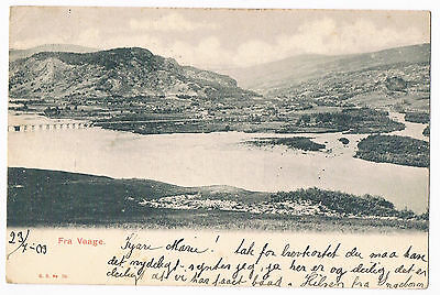 Norway - Vaage -  Undivided Back Postcard - Posted 1903  Pub. G.b. No.39