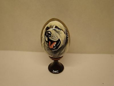 Russian eggs. High quality. Hand-painted Great Pyrenees