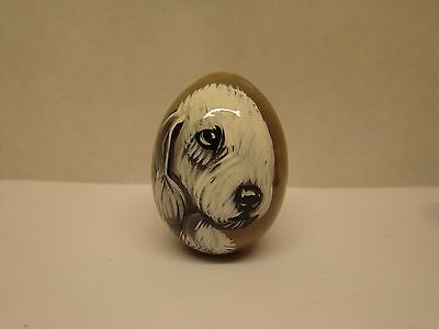 Russian eggs. High quality. Hand-painted Bedlington Terrier
