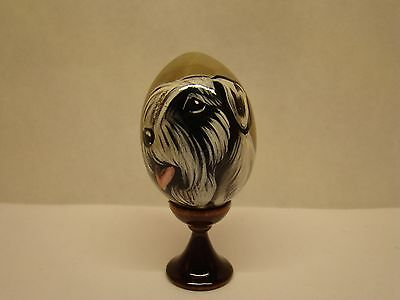 Russian eggs. High quality. Hand-painted Sealyham Terrier