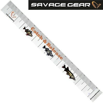 Savage Gear Trophy Measure Tape 140cm Maßband, Matte zum Messen