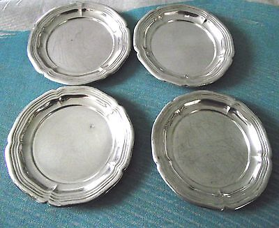 Hallmarked 830s silver - 4 x small Silver Plates/Dishes