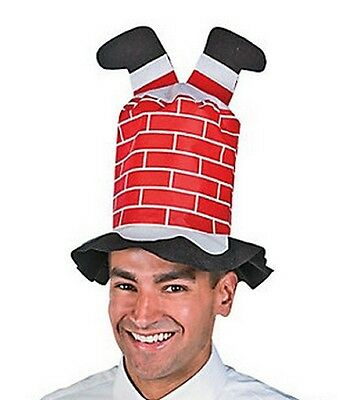 Santa Claus Legs Stuck In Chimney Hat~Funny Christmas Party Costume