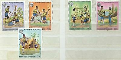 Togo 1982 Year of The Scout 5V MNH