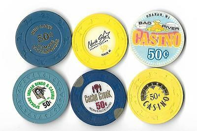 Six Different 50-Cent Chips - T12-9