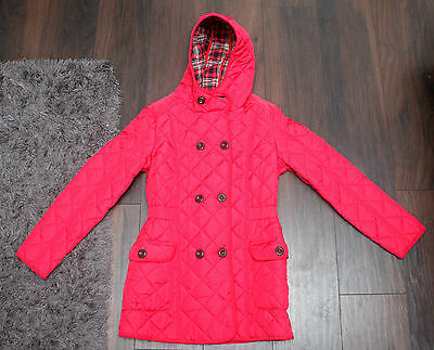 Next Gorgeous Girls Red Hooded Quilted Coat Age 15-16 Years Bnwts