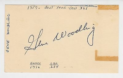 "Gene Woodling Autographed 3"" x 5"" Government Postcard"