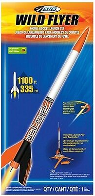 Estes Wild Flyer Model Rocket Launch Set with Controller Easy Assembly NEW