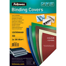 NEW! Fellowes 5370301 A4 Leatherboard Covers