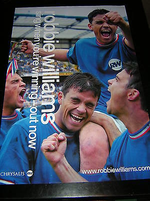 Original Robbie Williams Promotional Poster - Sing When You're Winning