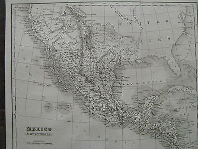 1841 ORIGINAl Map of Mexico, Texas, Guatimala