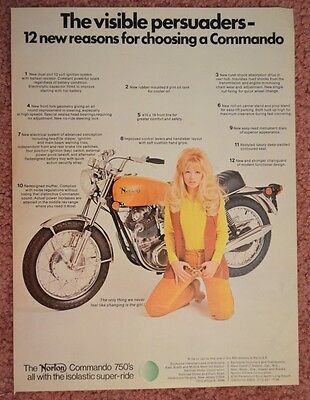 1971 Norton 750 Commando Original Color Motorcycle  ad