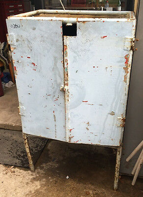 Industrial Blue Steel Storage Cabinet With Shelf