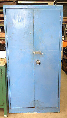 Blue Metal Double Door Storage Cabinet