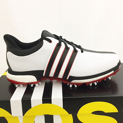 Adidas Men's Tour 360 Boost Golf Shoes Size: 9 M White/black/red *sample* 17274