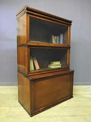 Antique Mahogany Globe Wernicke Barristers Stacking Bookcase, Vintage