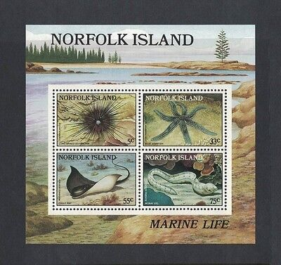 1986 Norfolk Islands SG MS 382 muh