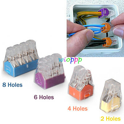 5X Wago 773-102/104/106 Pole Push Electrical Cable Connector Wire Block Terminal