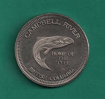 Campbell River Home of the Tyee GF $1 British Columbia BC Canadian Trade Token
