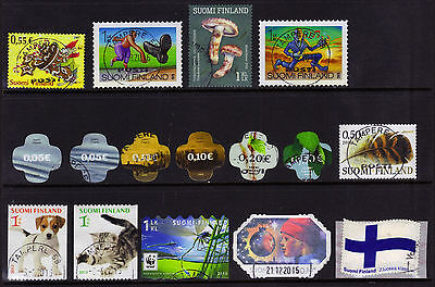 Finland 16 Recent Postally Used Issues ECV $20-21