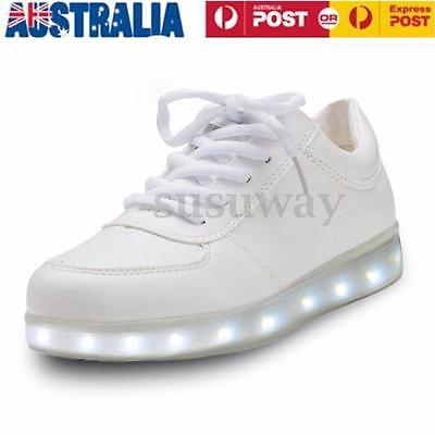 New LED Night Light Couples Men Women Lovers Light Up Trainer Lace Up Shoes