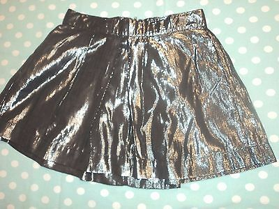 Girls Silver Gap Party Skirt Age 8-9 Years