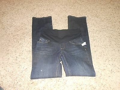 """New Oh Baby Maternity Jeans Size Small Long """"Tall"""" Full Panel Denim $54"""