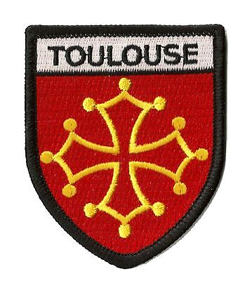 patch Badge city fusible embroidered badge TOULOUSE transfer patch