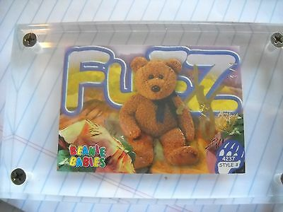 Signed Series 3 Ty Beanie Baby Card- 1 Of 1 Fuzz Artist Proof