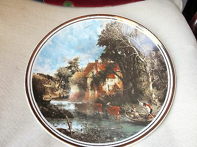 Large Bold Gilded Display Plate Fenton John Constable Valley Farm 1976 10.75""